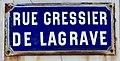 Photo de plaque de rue prise dans la commune d'Étaples - rue du Gressier de Lagrave.jpg