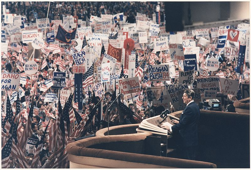 File:Photograph of President Reagan giving his Acceptance Speech at the Republican National Convention, Dallas, TX - NARA - 198554.jpg