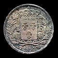 Pièce Charles X Roi de france 1 Franc 1830 verso fond noir.jpg