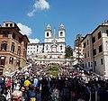 Piazza di Spagna z Trinita-Kirche.jpg
