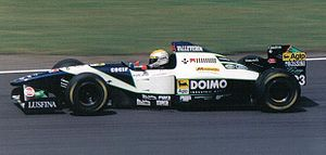 Minardi M195 - Pierluigi Martini driving the M195 at the 1995 British Grand Prix.