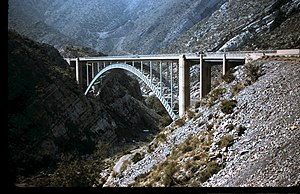 U.S. Route 60 in Arizona - The Pinto Creek Bridge in 1955.