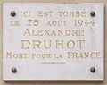 Plaque Alexandre Druhot, 29 avenue Dusquesne, Paris 7.jpg