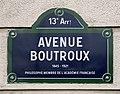Plaque Avenue Boutroux - Paris XIII (FR75) - 2021-01-19 - 1.jpg