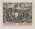 Plate 17- The Romans Misled by Civilis' Horse to Believe that He was Dead or Injured, from The War of the Romans Against the Batavians (Romanorvm et Batavorvm societas) MET DP863203.jpg