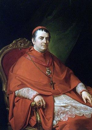 Gabriele Ferretti - Cardinal Gabriele Ferretti, portrait by Francesco Podesti.