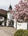 Poertschach Leonstainerstrasse 1 Schloss Leonstain Gartentor und Magnolie 07042016 1182.jpg