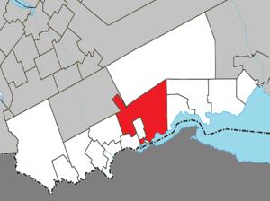 Pointe-à-la-Croix, Quebec - Image: Pointe à la Croix Quebec location diagram