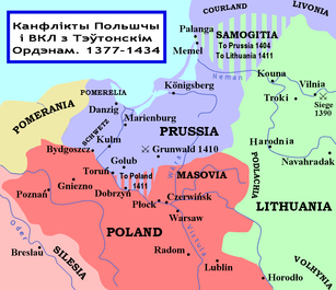 Polish and Lithuanian Conflict with Prussia. 1377-1435. Created by Mr. Spock.png