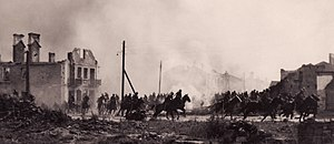 Battle of the Bzura - Battle of the Bzura: Polish cavalry in Sochaczew in 1939.