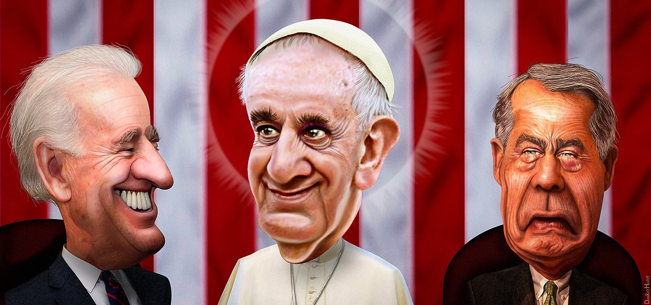 Pope Francis Speaks to John Boehner (21725488091).jpg