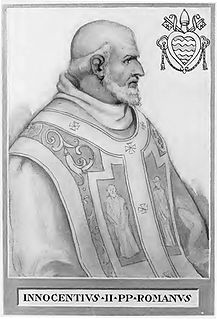 Pope Innocent II 12th-century Catholic pope