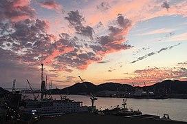 Port of Nagasaki at sunset.jpg