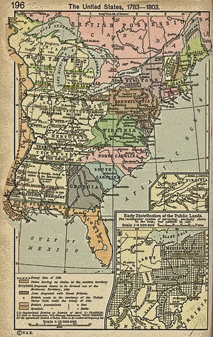 History Of The United States Wikipedia - Map of us in 1783