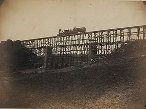 Potomac Creek Bridge - Image: Potomac Creek Bridge 1863 B