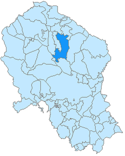 Location of Pozoblanco in the province of Córdoba.