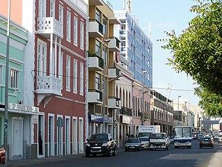 Avenida Amílcar Cabral street in Praia