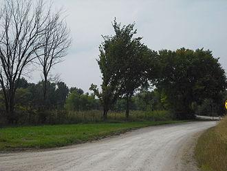 Prairie City, Kansas - Prairie City location near the Midland Railway.
