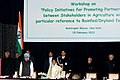 Pratibha Devisingh Patil, the Prime Minister, Dr. Manmohan Singh, the Union Minister for Agriculture and Food Processing Industries, Shri Sharad Pawar, the Union Finance Minister.jpg