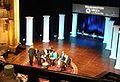 Prepping the panel - Washington Week taping - Hanna Theatre (28421556216) (cropped1).jpg