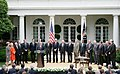 President George W. Bush's remarks before the signing of the FISA Amendments Act of 2008.jpg