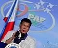 President Rodrigo Duterte at the Philippine Air Forces 69th anniversary celebration.jpg