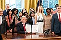 "President Trump Signs the National Security Presidential Memorandum to launch the ""Women's Global Development and Prosperity Initiative"" (46113309735).jpg"