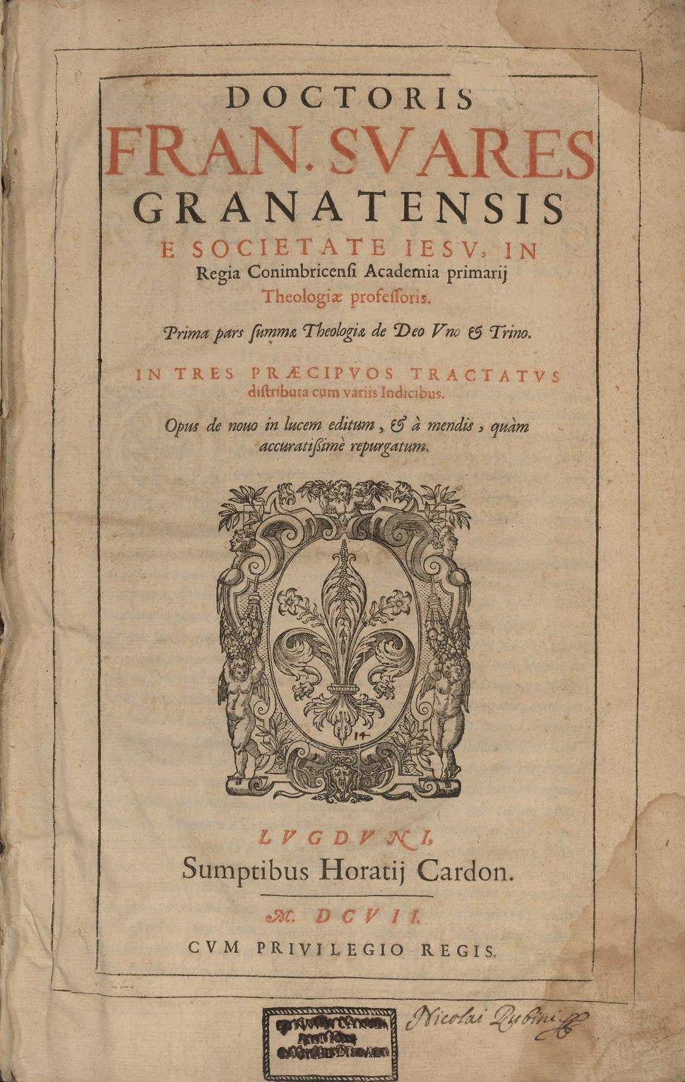 Prima pars Summae theologiae de Deo vno et trino BEIC3 V00042 F0006