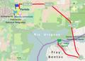 Primeros kilómetros de la primera etapa del Giro por la Hermandad 2014.png