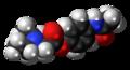 Propacetamol molecule spacefill.png