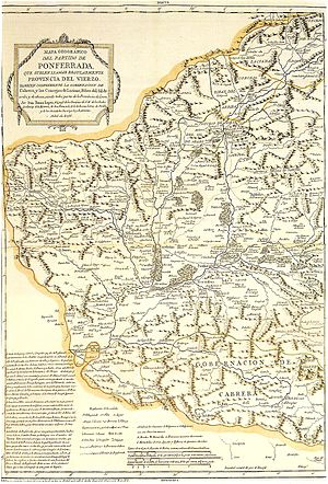 Province of Villafranca - A 1786 map of the region refers to it by both the name Partido de Ponferrada and the name Provincia del Vierzo.