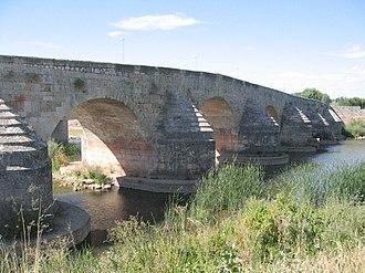 Arlanza (river) - The Arlanza River at Lerma, Burgos, mediaeval bridge
