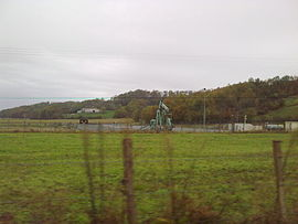 An oil well in Burosse-Mendousse