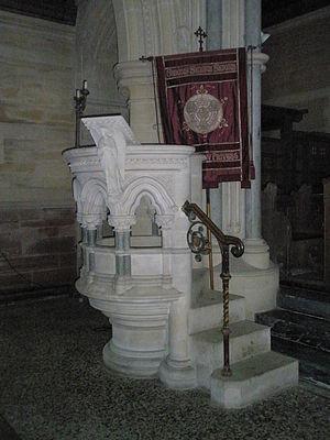 Holy Trinity Church, Privett - Image: Pulpit at Holy Trinity, Privett
