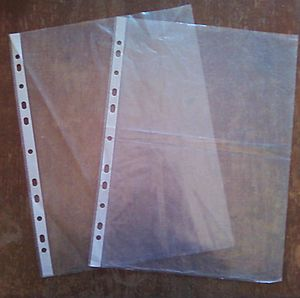 File folder - Punched pockets used in some file folders.