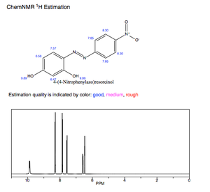 Azo violet - Pure Azo Violet NMR