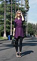 Purple wrap dress, black leggings.jpg
