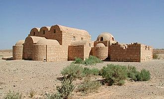 Qasr Amra - South (rear) view, from highway