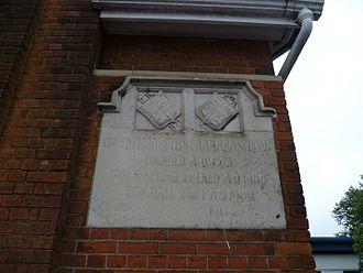Queen Elizabeth's School for Girls - Memorial plaque.