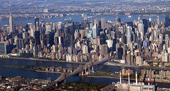 Queensborough Bridge and Midtown Manhattan