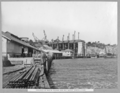 Queensland State Archives 3608 Progress on north anchor arm and wharf construction Brisbane 23 November 1937.png