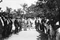 Queensland State Archives 5765 Welcome by Sea Scouts Darnley Island Torres Strait Island June 1931.png