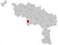 Quiévrain Hainaut Belgium Map.png
