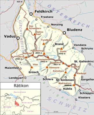 Vorarlberg Karte Berge.Rätikon Wikipedia