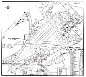 RAF Aldermaston - 1945 Aldermaston site map