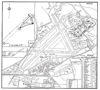 RAF Aldermaston - 1945 Aldermaston site map