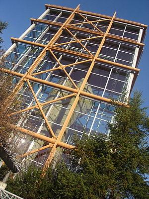 Rock climbing tower, REI Flagship Store design...