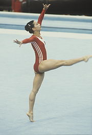 Description de l'image RIAN archive 497574 Soviet gymnast Nelli Kim.jpg.