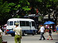 ROCMP Hino 500 Truck and Toyota Coaster Leaving Ground after Practice Completed 20120908.jpg