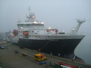 RRS James Cook at the National Oceanography Centre, Southampton.JPG